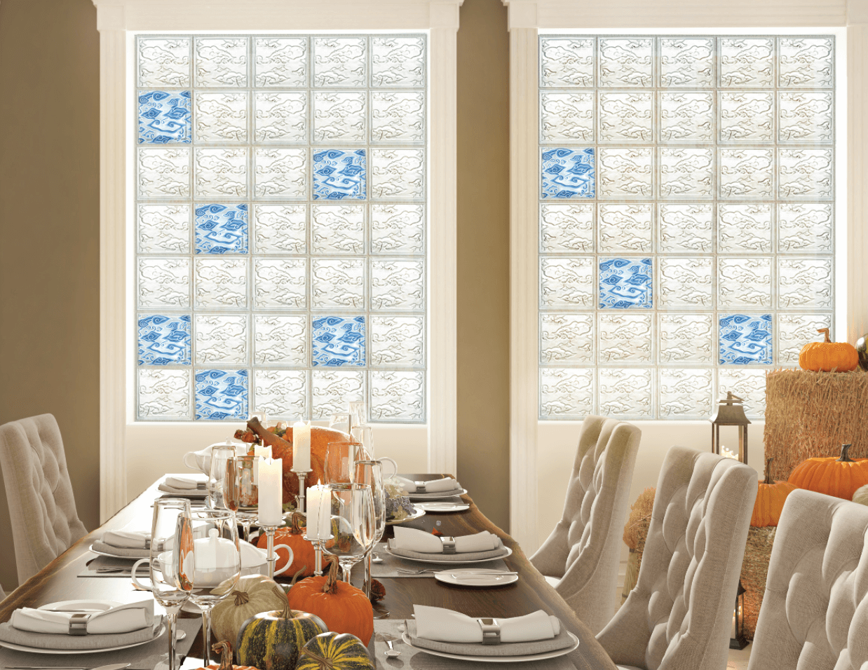 Glass Block Application for Dinning Room